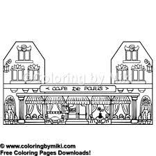 Café De Paris Coloring Page 787 Coloring By Miki