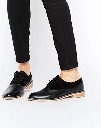 womens asos make it up leather brogues black asos women shoes p12h6333 larger image