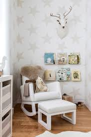 extra wide rocking chair contemporary nursery and area rug book ledges deer head floating shelves fur monte rocker nursery star wallpaper throw toy storage