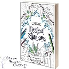 the coloring book of shadows by amy cesari wiccan witchcraft pagan diy bos pages
