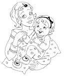 Раскраска про маму к дню матери