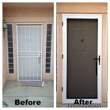 security storm doors with screens. Guarda Security Screen Door Before After, They Also Have Impenetrable Window Screens. Storm Doors With Screens I