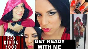 grwm little red riding hood makeup tutorial costume get ready with me