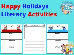 Holiday Name Happy Holidays Literacy Activities By Bekastks Teaching