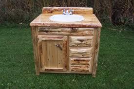 reclaimed bathroom furniture. In Vogue Reclaimed Log Wood Single Sink Rustic Vanity With Chrome Double Handle Taps For Bathroom Furnishings Backyard Garden Views Furniture B