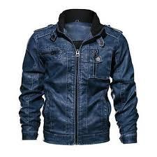 Men Tactical <b>PU Leather</b> Winter <b>Military</b> Bomber Jacket Slim | eBay