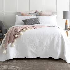 louisa white coverlet set  pillow talk