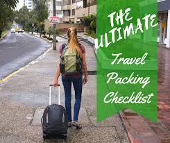 Sample Travel Packing List Ultimate Travel Pack List For Best Value Travel Gear 2019 Packing