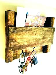 wooden mail holder wall mounted key holder key holder ideas wall mounted key holder key organizer wooden mail holder