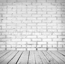 black and white brick wall stock image of vintage interior of white brick wall and old