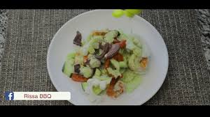 Making rissa's seafood salad - YouTube