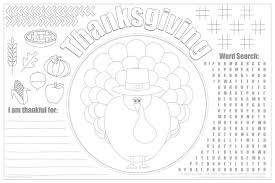 Print our free thanksgiving coloring pages to keep kids of all ages entertained this november. Printable Thanksgiving Placemats For Kids Free Live Craft Eat