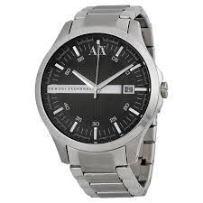 a x armani exchange watches jomashop armani exchange black dial stainless steel men s watch