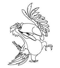 Small Picture Rafael the Romantic Toco Toucan from Rio Movie Coloring Pages