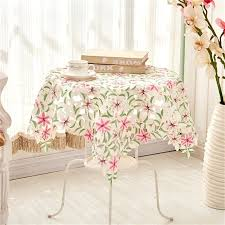 side tables side table cloth past luxury embroidered fabric lace wedding home oblong tablecloth cover