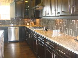 Expresso Kitchen Cabinets Espresso Kitchens Kitchen Loving The Vertical Subway Tile