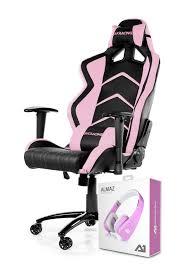 ak racing player gaming chair black pink