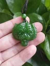fashion natural green jade tiger head