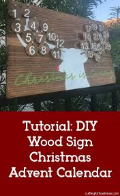 diy wood sign advent calendar tutorial great for small business silhouette cameo and cricut