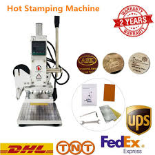 digital hot foil stamping machine pressure logo bronzing leather pvc embossing