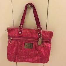 Large Coach Poppy Hot Pink bag