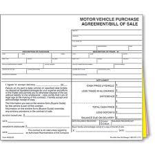 Copy Bill Of Sale Auto Dealer Bill Of Sale Forms Style 1