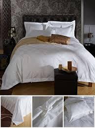 five stars hotel 100 cotton satin luxury white hotel bed linen bedspreads elegant bedding set duvet cover king