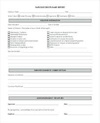 Employee Warning Notice Form Write Up Template Reprimand ...