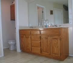 Dark Bathroom Cabinets Bathroom Project Transforming Builder Grade Cabinets To Old