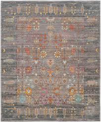 home ideas destiny safavieh area rugs evoke gray ivory 8 ft x 10 rug evk220d