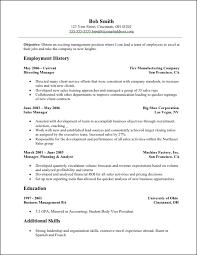 Management Resume Templates Resume Templates sample resume objective