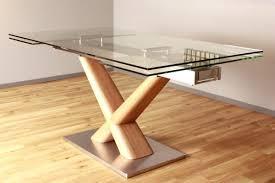 Esstisch Holz Glasplatte Ausziehbar Tisch Bemerkenswert Esstische