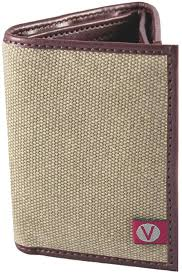 the vegan collection s canvas trifold vegan wallet for men