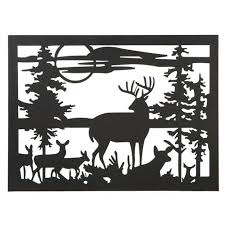 pack of 2 rustic lodge style rural deer silhouette wall decor panels in on alibaba com