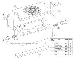 scroll saw labeled. wooden puzzle box \u2013 parts list scroll saw labeled