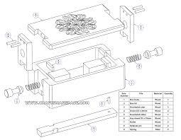 wooden puzzle box parts list
