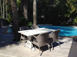 outdoor dining aluminium vogue wicker es deck 6