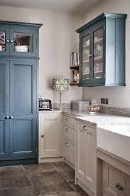 Country Blue Farmhouse Kitchen Town Country Living Country Kitchen Colors Country Kitchen Farmhouse Style Kitchen