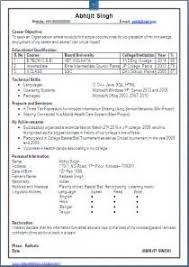 Awesome Collection of Sample Resume For Freshers Engineers Computer Science  About Free Download