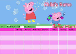 Peppa Pig Potty Training Reward Chart Printable Printable Potty Training Reward Chart