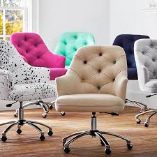 upholstered office chairs. Beautiful Office Upholstered Office Chair On Wheels In Twill Tufted Desk PBteen  Aspiration Intended For 8 And Chairs