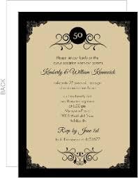 gold photo frame antique 50th anniversary invite