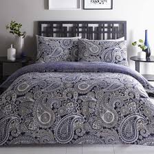 topaz navy paisley quilt cover sets