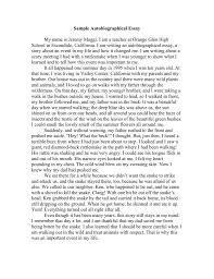 Sample Biographical Essay Sample Autobiographical Essay Doc
