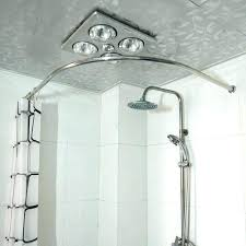 install curved shower curtain rod tension copper