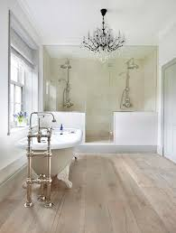 beautiful bathroom chandelier idea