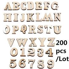 200 unfinished wooden letters alphabet wood numbers embellishments kids crafts
