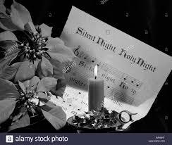 1960er Jahren Noten Von Stille Nacht Beleuchtet Bei