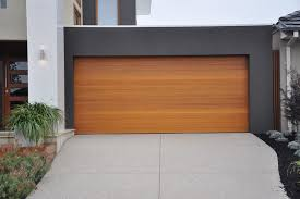 image of wooden modern garage doors