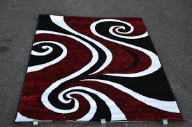 top black and red contemporary area rugs